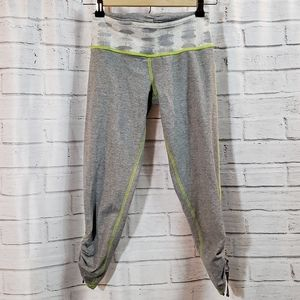 Lululemon grey leggings with ruching at ankles. 4